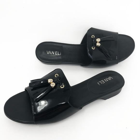 Van Eli Black Patent Leather Tassel